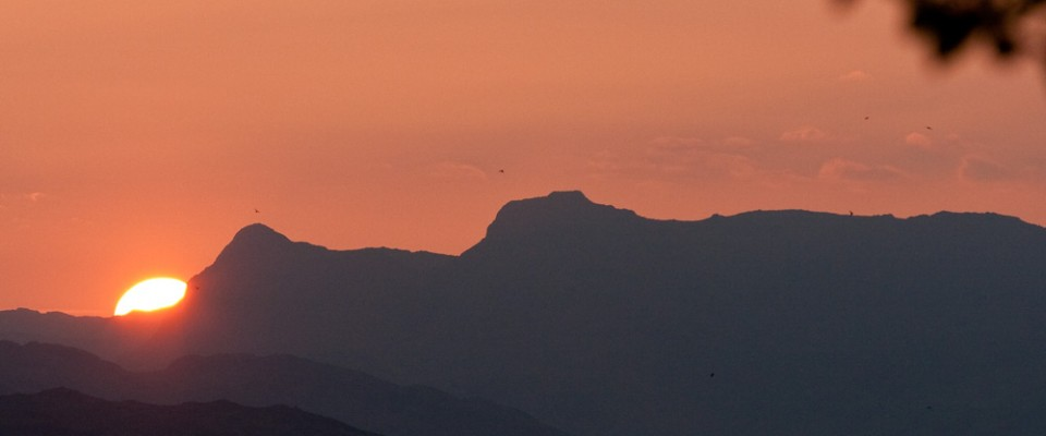 Sharing Jesus | Life on the Summit | Sunset over Langdale Pikes, Cumbria